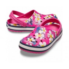 Crocs Crocband Candy Pink Floral Seasonal Graphic Clogs арт. 00225