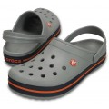 Crocs Crocband Light Grey/Navy арт. 03077