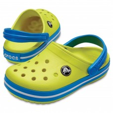 Crocs Crocband Clog Tennis Ball Green/Ocean (Kids) арт. 03099