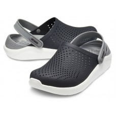 Crocs LiteRide Clog Black/White арт. 00057