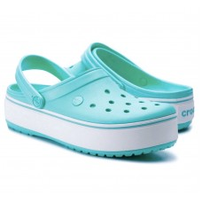 Crocs Crocband Platform Clog Light Grey / Rose арт. 000112