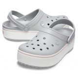 Crocs Crocband Platform Clog Light Grey / Rose арт. 00027